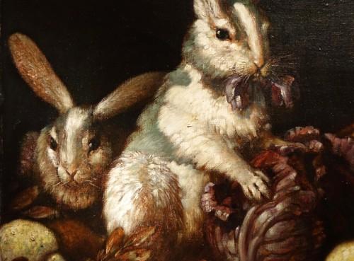 20th century - Max LUBER (1879-1950) -Two Rabbits, Circa 1930