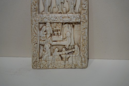 Religious Antiques  - Ivory depicting the Crucifixion ,Salerno ,Italy,11th century