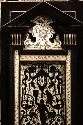 Furniture  - A 17th c. blackened wood,rosewood and ebony ,ivory inlaid,Italy (Venise)
