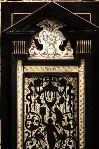 Furniture  - A 17th c. blackened wood,rosewood and ebony ,ivory inlaid,Italy (Venise)