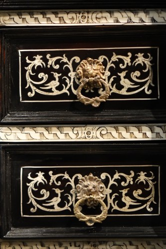 A 17th c. blackened wood,rosewood and ebony ,ivory inlaid,Italy (Venise)  -
