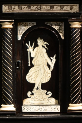 A 17th c. blackened wood,rosewood and ebony ,ivory inlaid,Italy (Venise)  - Louis XIII
