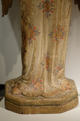 A pair of 14th century angels, Siena Italy  -