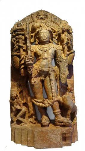 Stone sculpture(serpentine) representing the god Shiva,South India ,13th c.