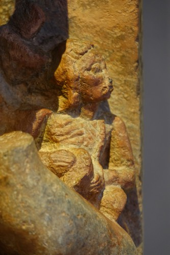 Stone sculpture(serpentine) representing the god Shiva,South India ,13th c. -