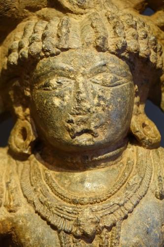 <= 16th century - Stone sculpture(serpentine) representing the god Shiva,South India ,13th c.