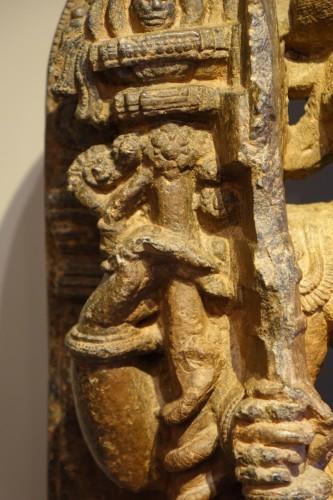 - Stone sculpture(serpentine) representing the god Shiva,South India ,13th c.