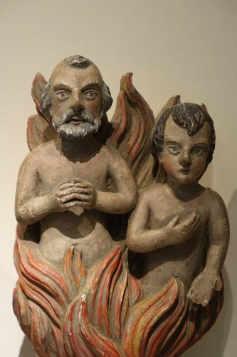 Pair of Anima Sola or Lonely Soul Sculptures, 16th Century, Southern Italy - Religious Antiques Style Renaissance