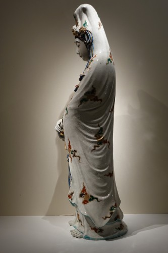 19th century - A huge Kutani statue of Kannon, Meiji period ,Japan