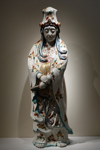 Antiquités - A huge Kutani statue of Kannon, Meiji period ,Japan