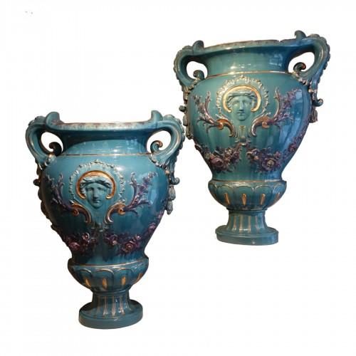 A pair of huge Medicis vases ,France,circa 1890