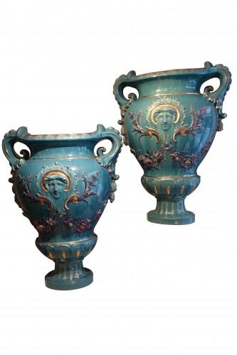 Antiquités - A pair of huge Medicis vases ,France,circa 1890