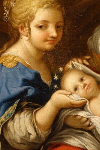 """Paintings & Drawings  - Oil on canvas representing """"the Birth of the Virgin Mary"""",France,17th c."""