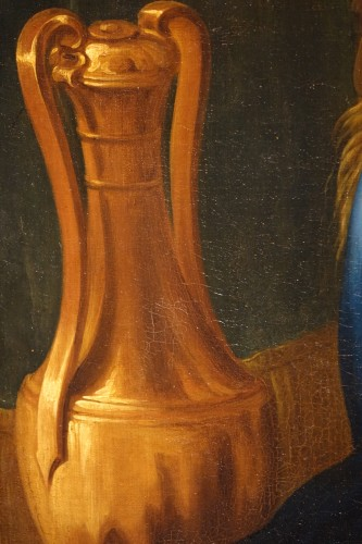 """Antiquités - Oil on canvas representing """"the Birth of the Virgin Mary"""",France,17th c."""