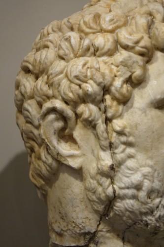 16th century - Marble sculpture representing the Emperor Caracalla, 3th c.AC