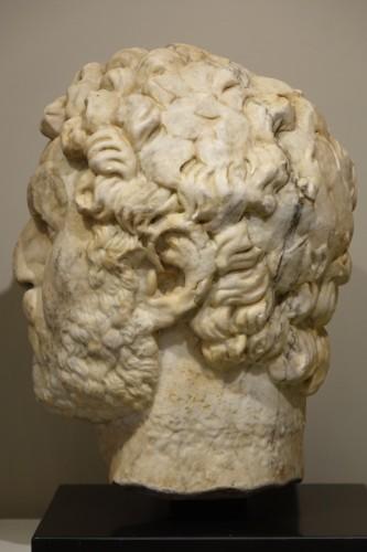 Antiquités - Marble sculpture representing the Emperor Caracalla, 3th c.AC