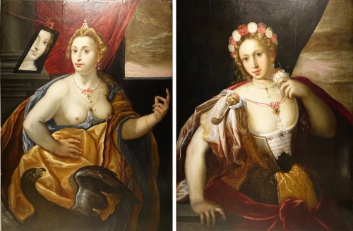 Pair of Paintings on Panel, Venetian School late 16th, early 17th century