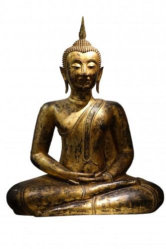 Bronze Buddha Statue , Thailand 19th century