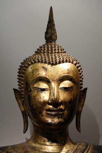 Antiquités - Bronze Buddha Statue , Thailand 19th century