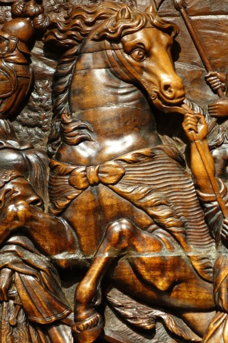 17th Century Wood Panel Sculpture Carved in Low Relief, Italy or France -
