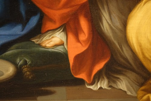 Antiquités - The Nativity of Mary, Oil on Canvas, 17th Century French School