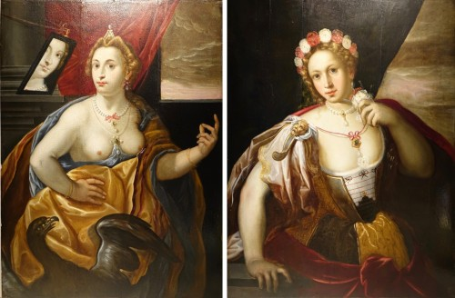 Portraits of two women depicting allegories, Late 16th early 17th century