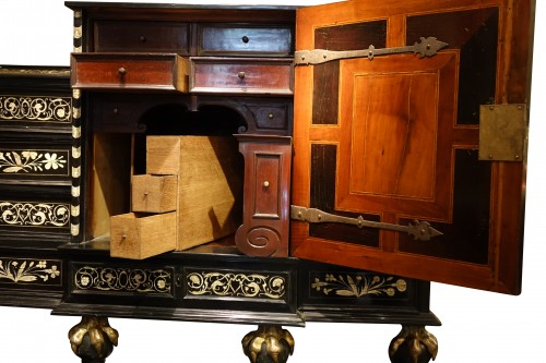 Wooden cabinet with 17 drawers ,Germany ,18th century -