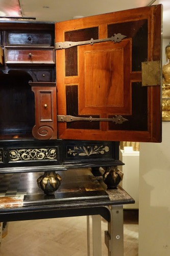 Antiquités - Wooden cabinet with 17 drawers ,Germany ,18th century
