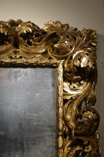 "Mirrors, Trumeau  - 18th Italian Century ""A Cartoccio"" Mirror"
