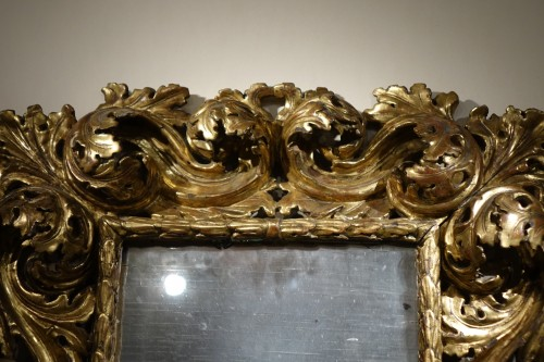"18th Italian Century ""A Cartoccio"" Mirror -"