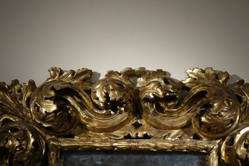 "18th century - 18th Italian Century ""A Cartoccio"" Mirror"