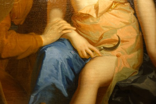 """Paintings & Drawings  - """"Vertumne and Pomone"""",oil on canvas attributed to F.A. VERDIER,circa 1700"""