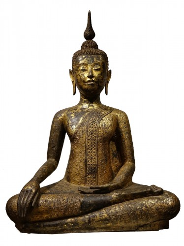 Buddha sitting in the position of Bhumisparsa mudra, Thailand19th century