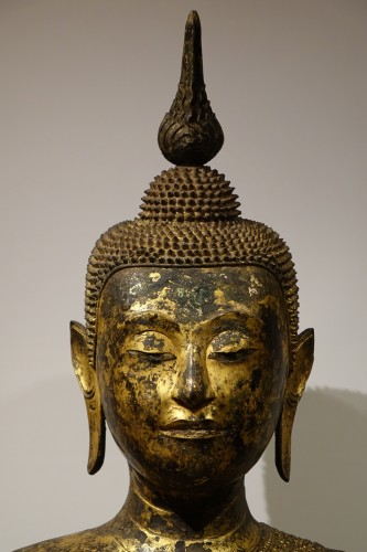Buddha sitting in the position of Bhumisparsa mudra, Thailand19th century - Asian Art & Antiques Style Louis-Philippe