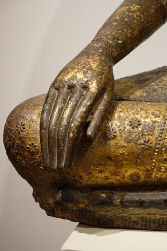 Asian Art & Antiques  - Buddha sitting in the position of Bhumisparsa mudra, Thailand19th century