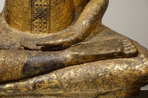 Buddha sitting in the position of Bhumisparsa mudra, Thailand19th century - Louis-Philippe