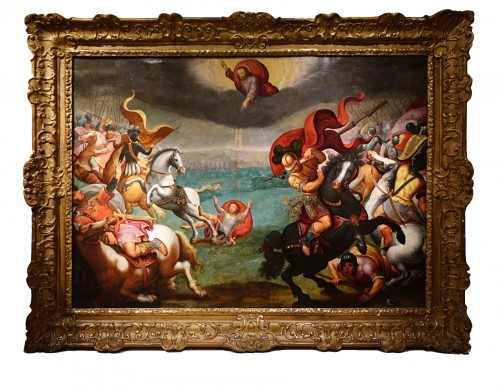 The Conversion of Paul - oil on panel, circa 1600