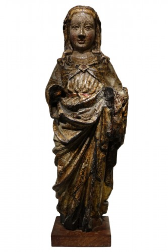 Virgin and Child in carved and polychromed wood