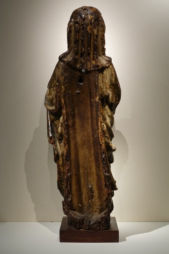 Antiquités - Virgin and Child in carved and polychromed wood