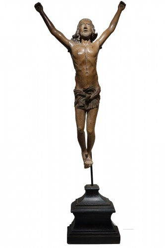 Christo Vivo in fruitwood, Northern Italy 17th century