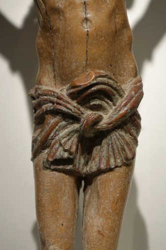 Christo Vivo in fruitwood, Northern Italy 17th century  -