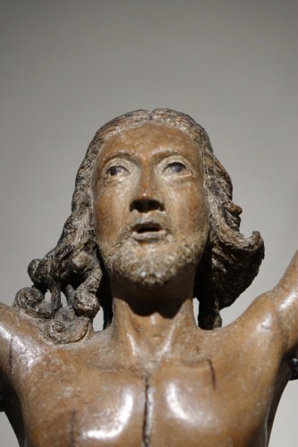 17th century - Christo Vivo in fruitwood, Northern Italy 17th century