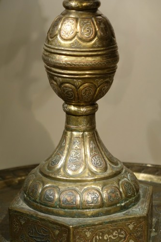 Very large silver inlaid brass perfume burner, Egypt 19th century - Decorative Objects Style Louis-Philippe