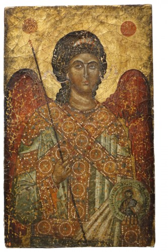 Greek icon depicting St. Michael the Archangel, 19th century.