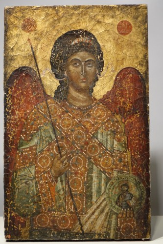 Antiquités - Greek icon depicting St. Michael the Archangel, 19th century.