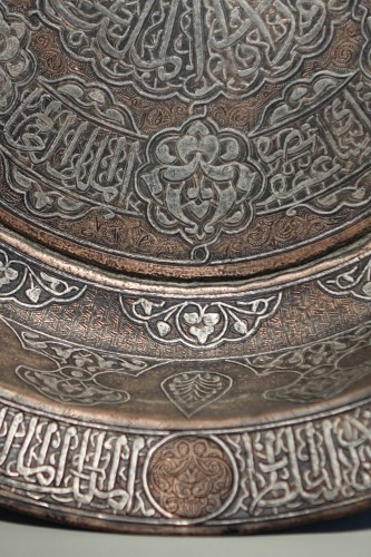 Decorative Objects  - Large copper basin, silver inlaid, Egypt, 19th c. or before.