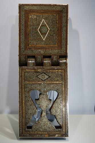 "Inlaid Coran holder""khatam kari"",Persia,19th century. -"