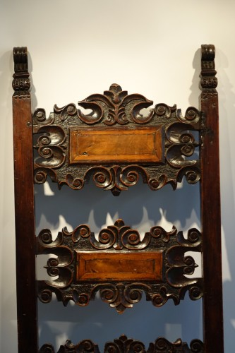 Seating  - Pair of large Italian chairs,Lombardy,17th century.