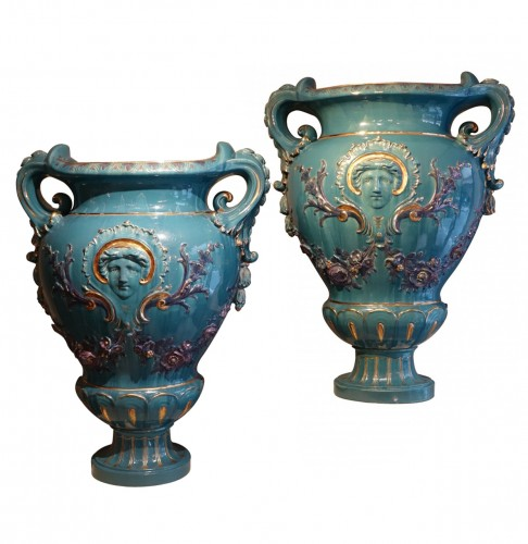 Pair of Large Medicis vases, France, circa 1890