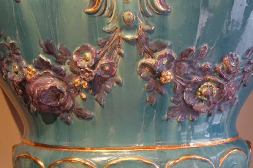 Art nouveau - Pair of Large Medicis vases, France, circa 1890